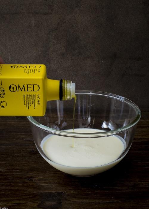 Helado de aceite de oliva virgen extra con yuzu