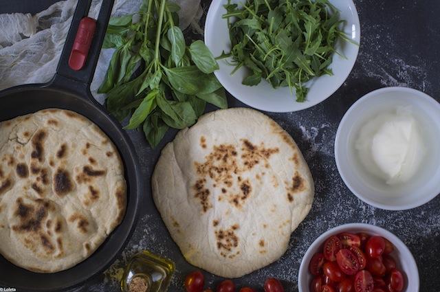 Pizza in pan. Caprese my way 1