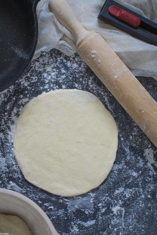 Pizza in pan. Caprese my way 5