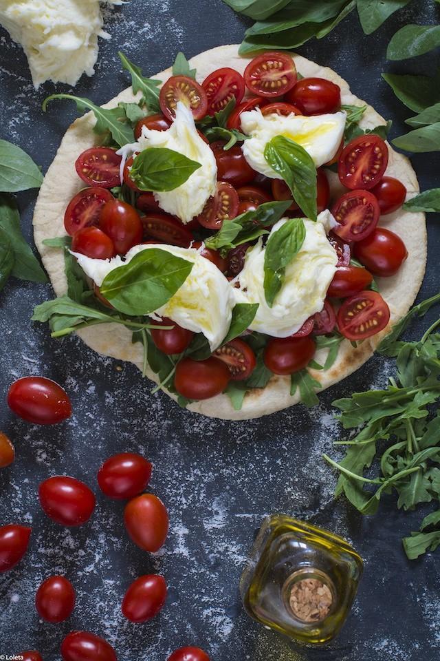 Pizza in pan. My way 9 Caprese