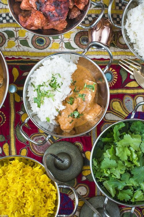 Pollo hindu con mantequilla. Murgh Makhani 3
