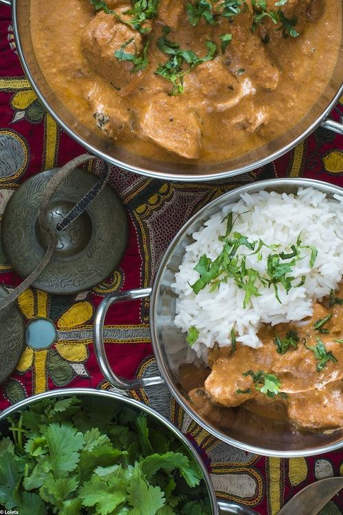 Pollo hindu con mantequilla. Murgh Makhani 5