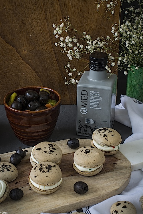 Macarons de aceitunas negras 4