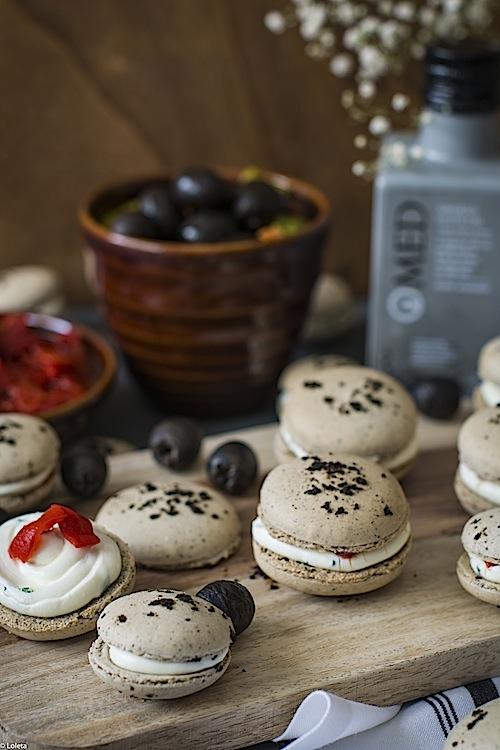 Macarons de aceitunas negras 7