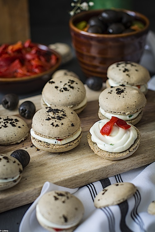 Macarons de aceitunas negras 8