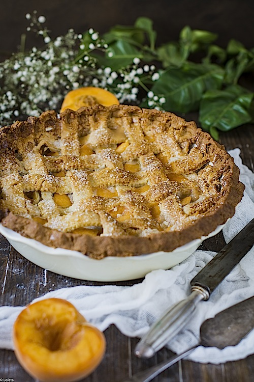 Tart of peaches and apricots 13