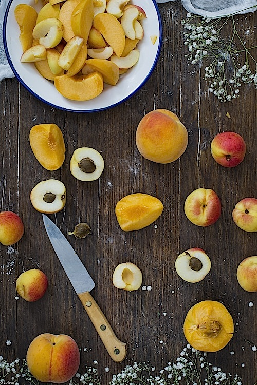 Peaches and apricots 4 cake
