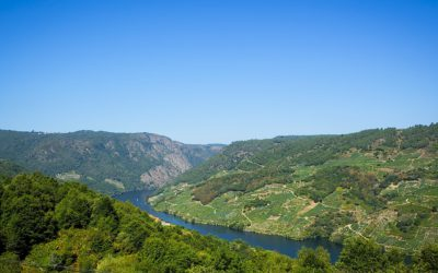 The route of the Canyon of the river Mao. A beautiful landscape in Ourense