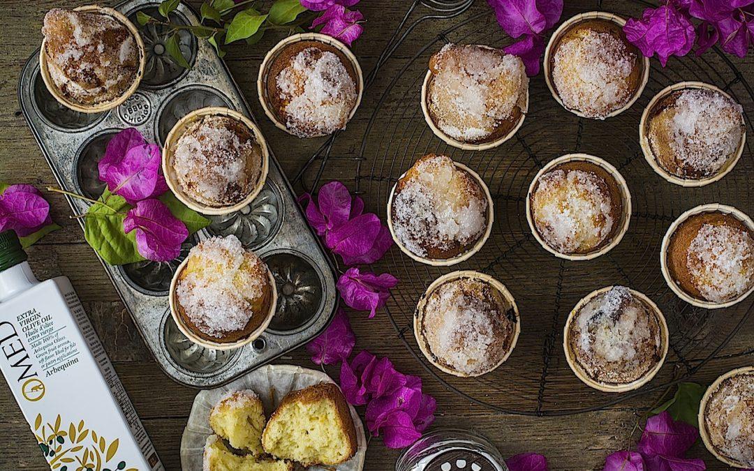 Magdalenas de aceite arbequina con azúcar. Tradición en tu mesa