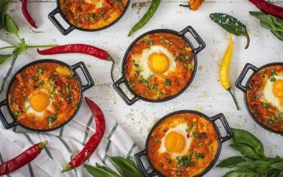 Huevos rancheros mexicanos. El desayuno de los valientes