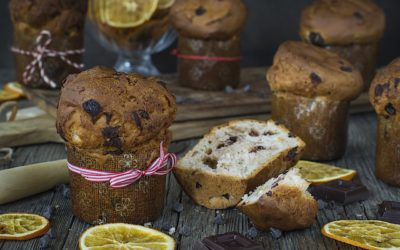 Panettone express and very easy. Mini panettones