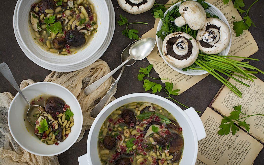 Verdinas con setas y jamón. Un invierno calentito en tu mesa