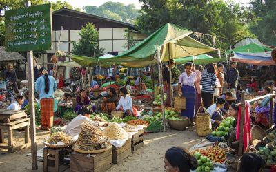 El mercado de Nyaung-U en Bagán