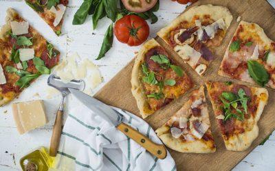 Masa de pizza casera súper fácil y rápida casi sin amasado