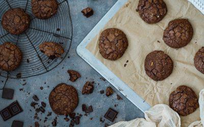 Las mejores galletas de brownie. Muy fáciles con chocolate y nueces