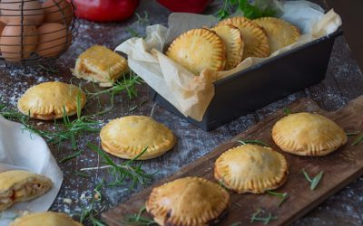 The home easy pie dough. Empanadas stuffed with tuna and egg