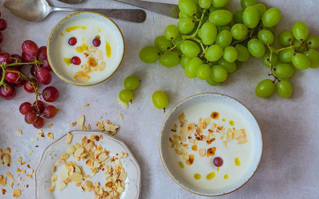 Ajoblanco malagueño con uvas. La sopa fría del verano