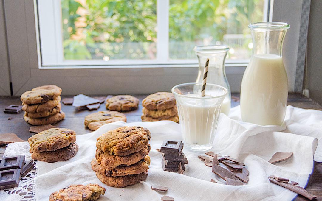 Cookies de chocolate sin gluten. Galletas de chocolate para celíacos