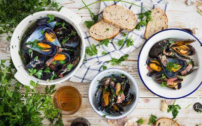 Easy recipe of mussels with bacon beer