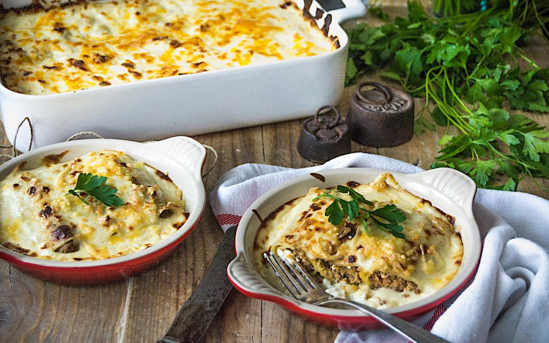 Receta fácil de canelones rellenos de carne y foie.