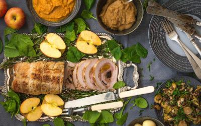Receta fácil de cerdo relleno trufado con salsa de verduras