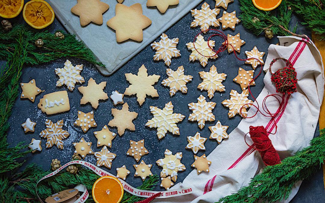Galletas de azúcar sin gluten para decorar con glaseado de naranja