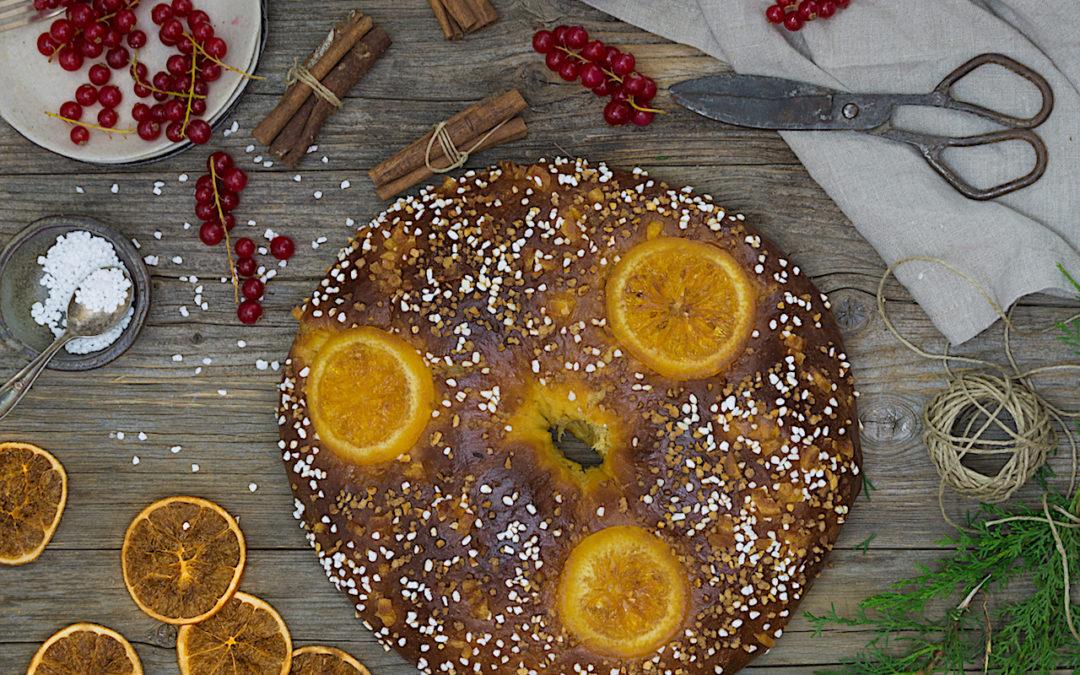 Roscón de naranja. Desayuno el día de Reyes
