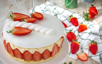 Tarta de fresa Fraisier. La mejor tarta de fresas del mundo