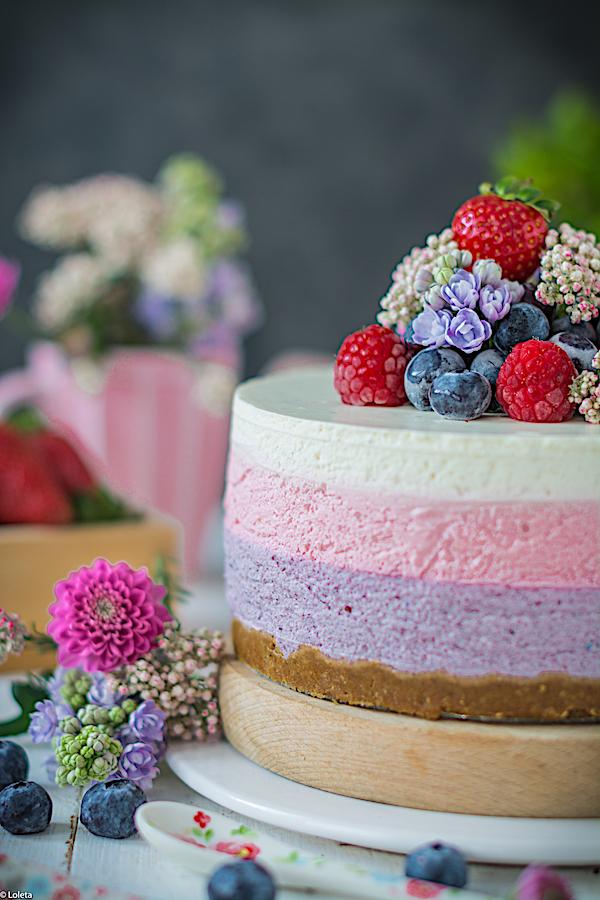 cheesecake sin horno de frutos rojos