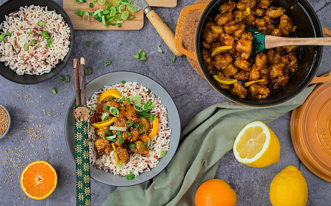 Pollo al limón estilo chino hecho en casa. Asia en tu mesa
