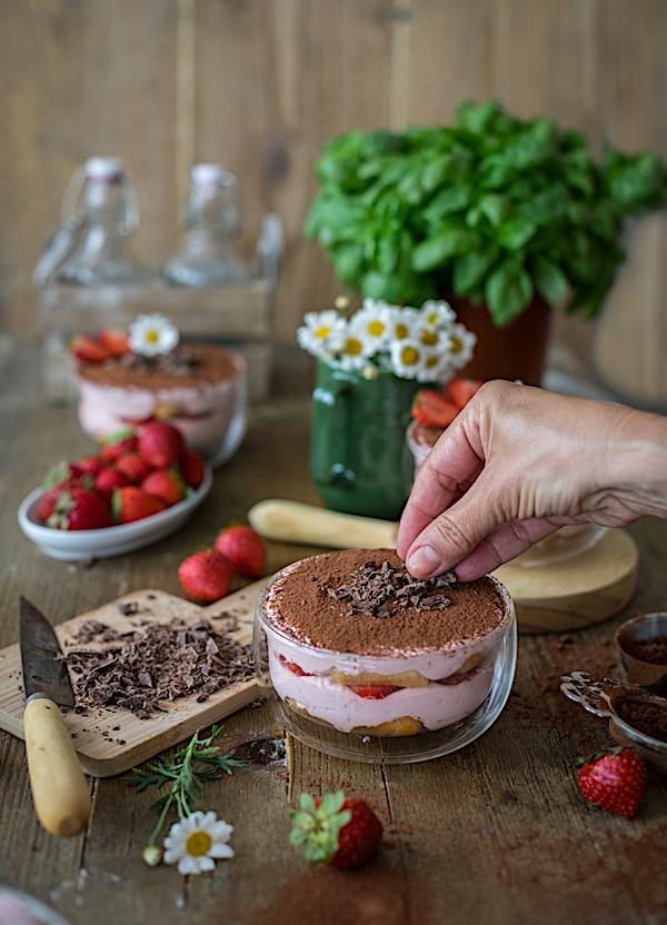 tiramisú de fresas