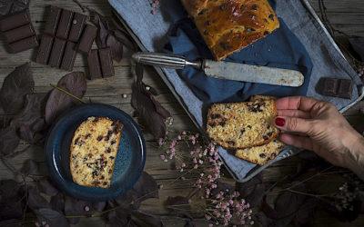Receta exprés de pan brioche con pepitas de chocolate. Desayuno de Navidad