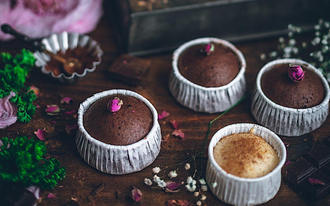 Mushi-pan de vainilla y chocolate