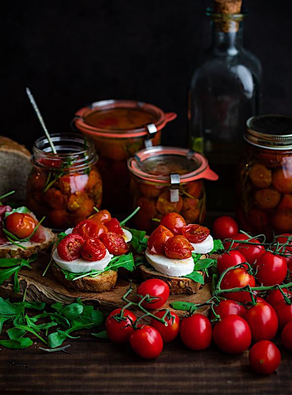 tomates cherry confitados y caramelizados