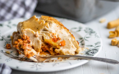 Lasagna bolognese. Italian tradition of old
