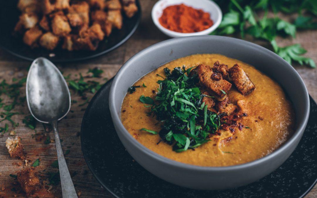 Crema de lentejas con curry. La crema más rica del invierno