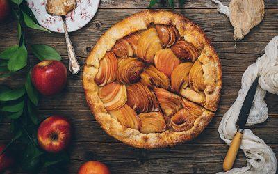 Galette de manzanas con crema de  almendras