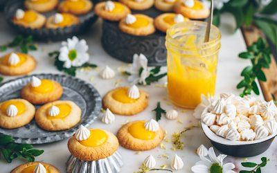 Lemon pie cookies. Biscuit-shaped lemon tart