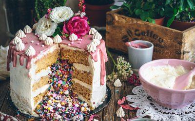 Tarta piñata. La tarta de tus sueños sin gluten