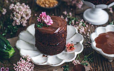Pastelitos de calabacín y chocolate.