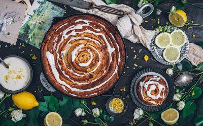 Mi versión de limón de los rollos de canela: Rollito gigante de limón
