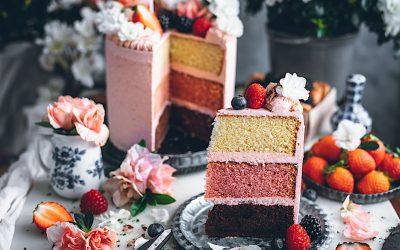 Tarta de Cumpleaños Neapolitan cake. Loleta cumple 9 años